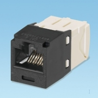 Panduit Giga Channel MINI-JACK Cat6, UTP RJ45, černý