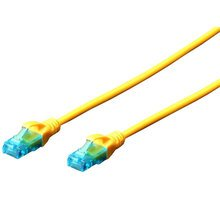 Digitus Patch Cable, UTP, CAT 5e, AWG 26 / 7, žlutý 10m, 5ks